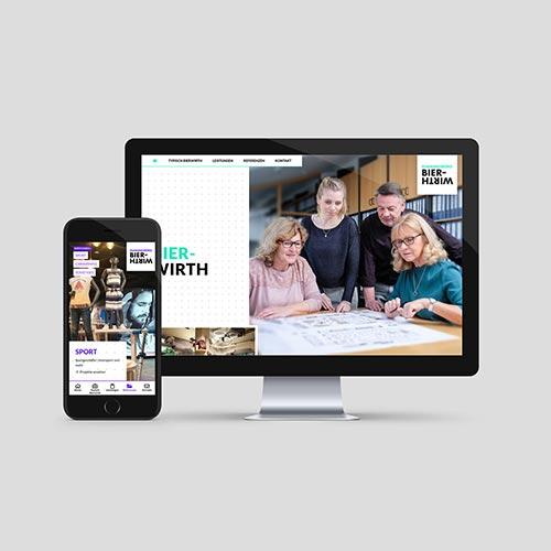 Planungsbüro Bierwirth   Logo-Entwicklung, Webdesign & Programmierung, Teamfotos, Texte