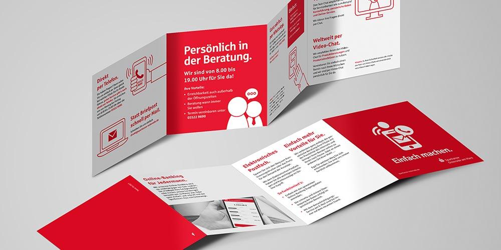 """Sparkasse Osterode   Gesamtkonzept Kampagne """"Einfach machen"""", Icon Design, Erklärfilm, Print-Design"""